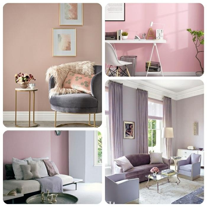 1 lila töne wandfarben ideen wohnung einrichten einrichtung in mauve farbe wände streichen beispiele