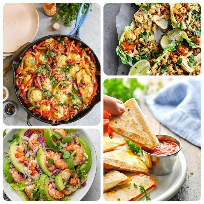 1 was koche ich heute leckere rezepte fürs abendessen gesund essen quessadilla pizzas salat mit garnelen gericht mit tomaten und hänchenfleisch