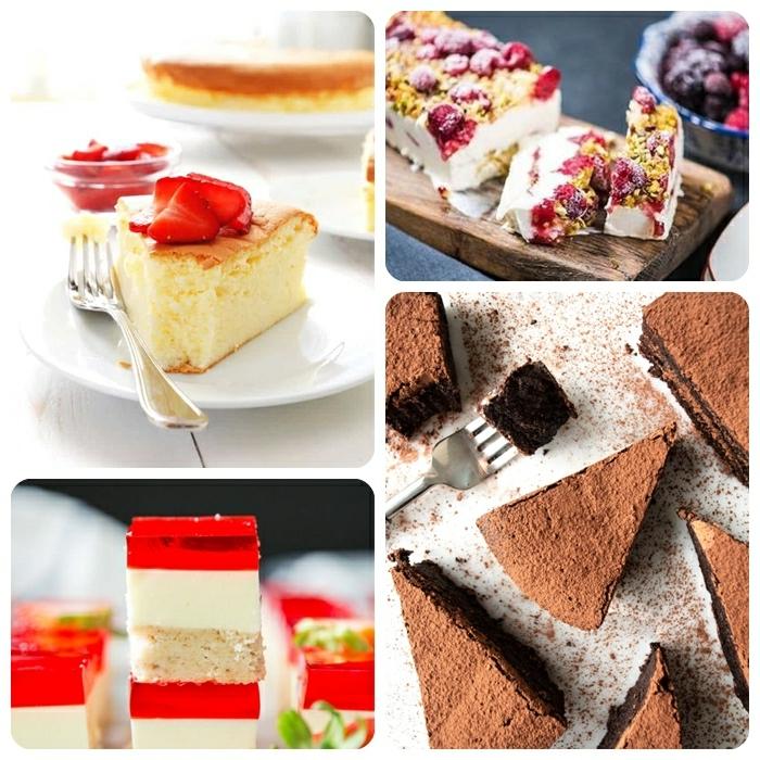 6 gesunder kuchen mit wenig zucker shokokuchen mit kakao jelly kuchen miz erdbeeren beernkuchen mit gefrorenem joghurt