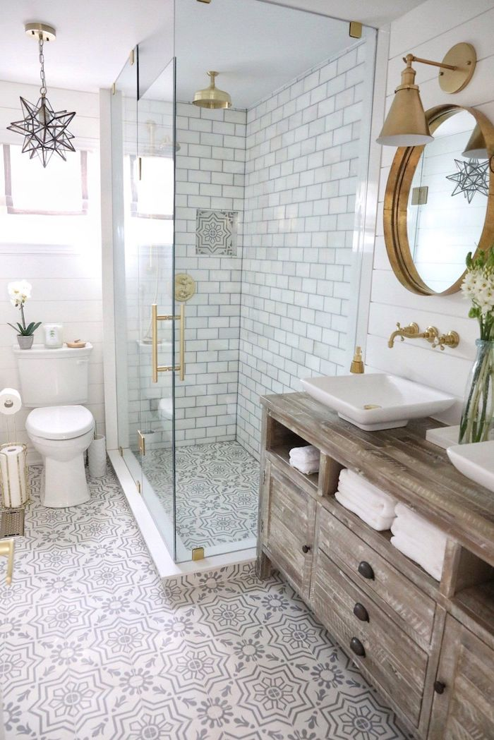 badezimmer streichen wandfarbeschöner wohnen helle neutrale farben holz schrank weiße waschbecke