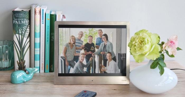digitale bilderrahmen geschenk für die familie goldene hochzeit schenken ideen goldene hochzeit basteln