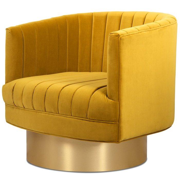 ein gelber cocktailsessel tolle einrichtungsideen