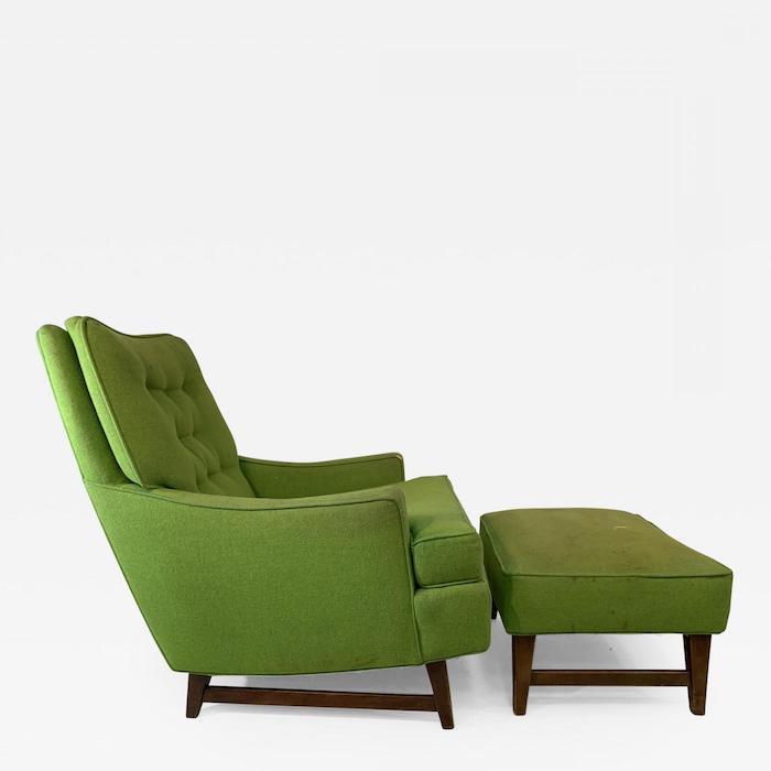 ein grüner moderner cocktailsessel ideen einrichtung