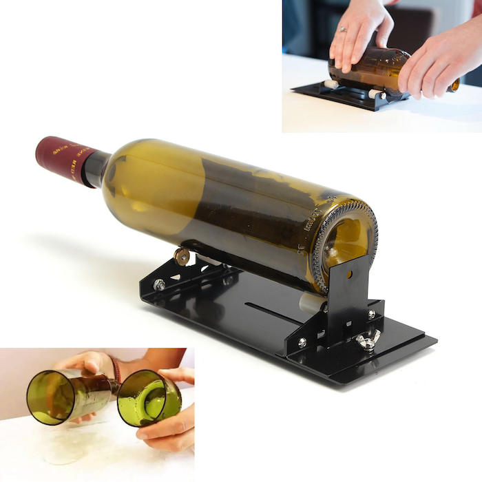 ein wine bottle cutter wie kann man eine alte grüne weinflasche upcyceln schritt für schritt aus alt mach neu