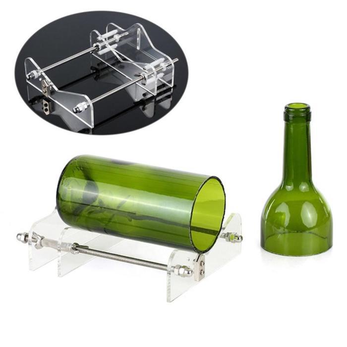 eine grüne weinflasche ein wine bottle cutter aus alt mach neu nachhaltige geschenke für männer