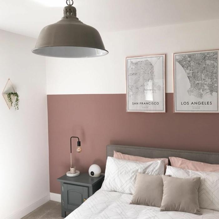 farbe malve kombinieren passende nuancen schlafzimmer weiß mauve und grau schlafzimmergestaltung