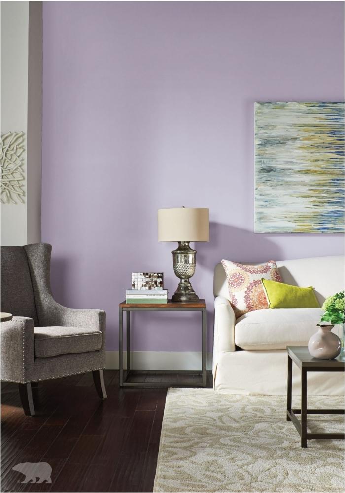 farbe malve lila wand wohnzimmerdeko ideen wohnzimmer einrichten und.dekroieren