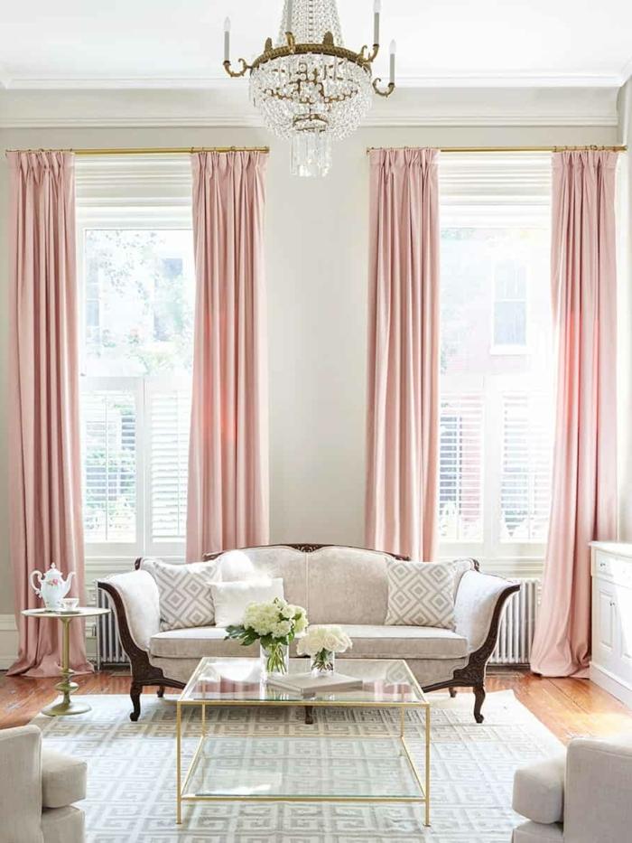 farbe malve stilvolle eirncihtung wohnzimmereinrichtung in weiß und mauve moderner vintage stil