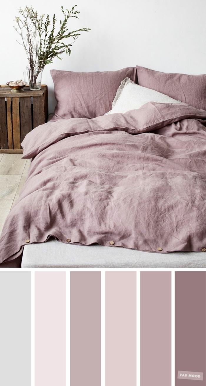 farbe mauve beispiele infos fotos schlafzimmergestaltung ideen sanfte farbpalette