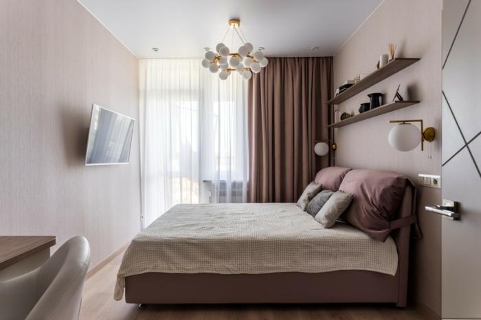 farbe mauve schlafzimmer eirncihten kleines zimmer gestalten schlafzimmergestaltung wandfarben trends