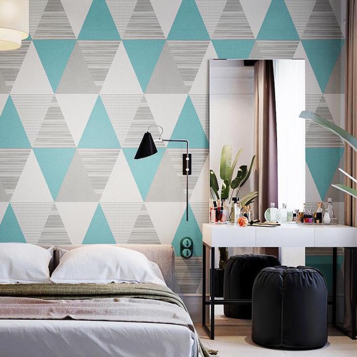 farben kombinieren wände streichen tappette