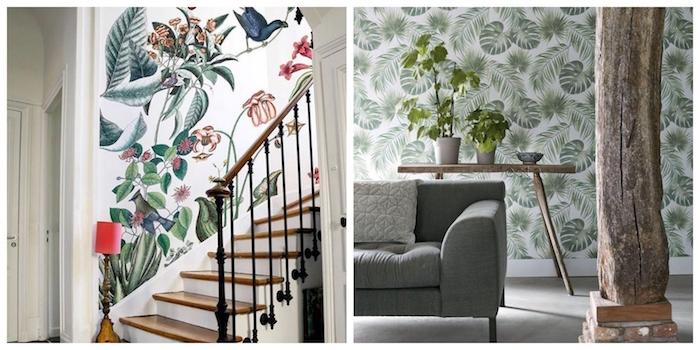 farben treppenhaus grüne urban jungle style pflanzen weiße wände