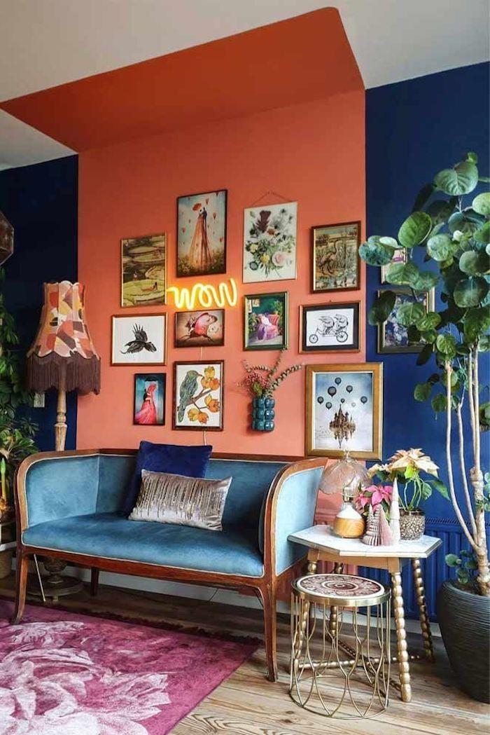 farbpalette farben kombinieren wände streichen schön wohnen ideen terrakotta petrol undweiß mit hellboden