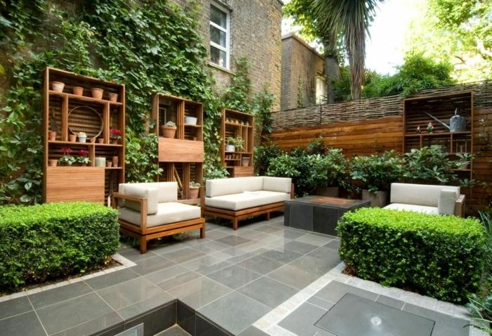 garten gestalten ideen moderne gartengestaltung hintergarten beispiele sichtschutz kleiner garten