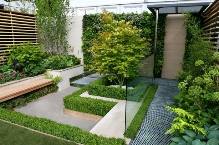 gartengestaltung kleine gärten hintergarten gestaltungsideen gartendeko mit pflanzen