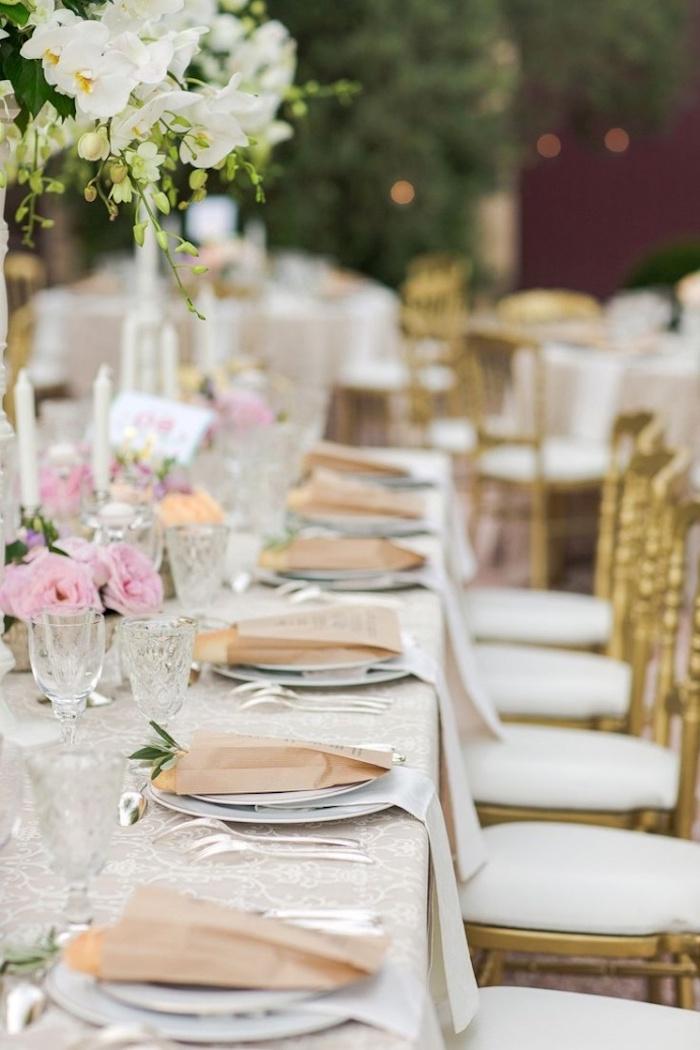 gold rosa weiß deko für den tisch zur goldenen hochzeit geeignete dekoration