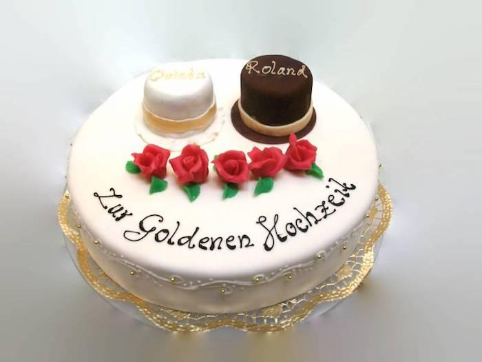 goldene hochzeit kuchen ideen goldene hochzeit geschenk selber basteln goldenen hochzeit der eltern