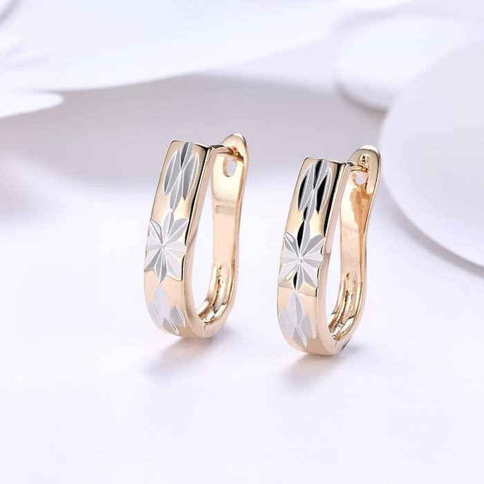 goldene ohrringe als geschenk zur goldenen hochzeit für die ehefrau geschenke zur goldenen hochzeit eltern