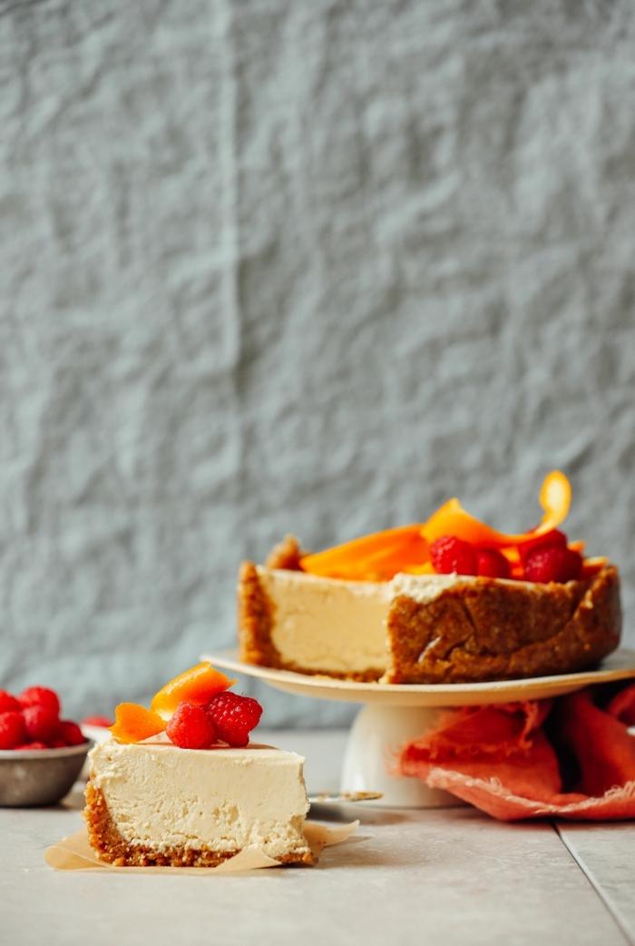 kuchen mit obst nachtisch ideen leckere brunch rezepte käsekuchen mit joghurt und früchten
