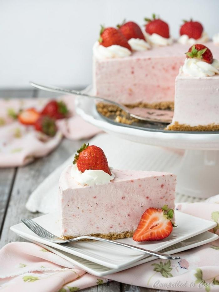 kuchen ohne mehl und zucker frischkäsekuchen mit joghurt und erdbeeren erdbeerkuchen backen