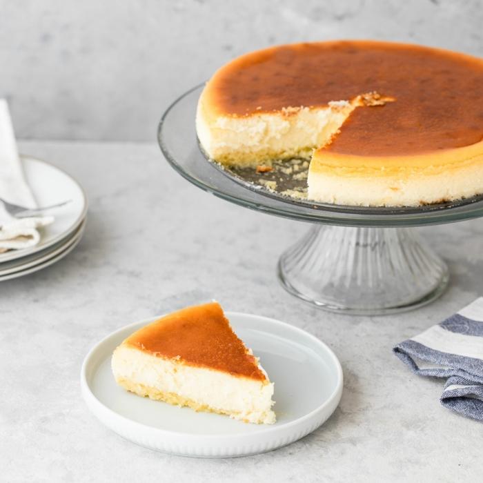kuchen ohne zucker zuckerfreier cheesecake klasisches rezept brunch ideen käsekuchen selber machen