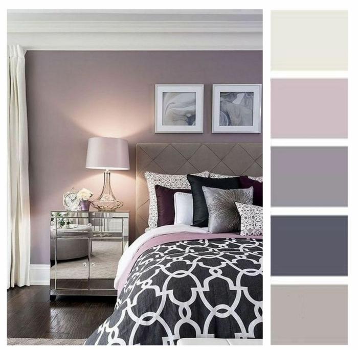 lila töne in der einrichtung einrichtungsbeispiele mauve farbpalette schlafzimmer gestalten