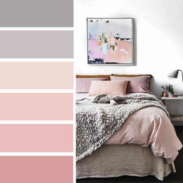 malve farbe mauve taupe schlafzimmer gesalten zimmer einrichten und dekroieren wohnungsideko farbpalette