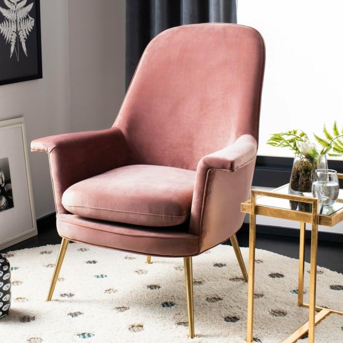 malve farbe taupe designer sessel sitzecke leseecke schaffen bequemer stuhl rosa sitzmöbel