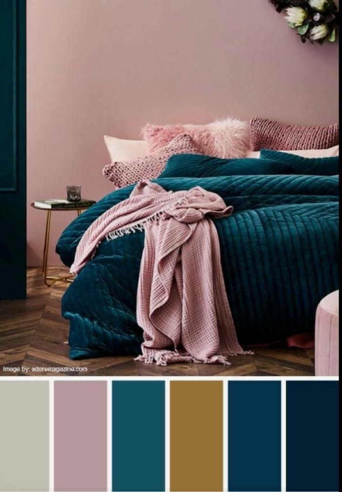 mauve taupe farbpalette passende farben schlafzimmer in malve und dunkelblau metallene akzente