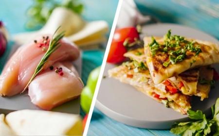 quesadilla selber machen schritt für schritt die besten rezepte mexikanisches gericht mit hähnchenfleisch paprika cheddar mozzarella