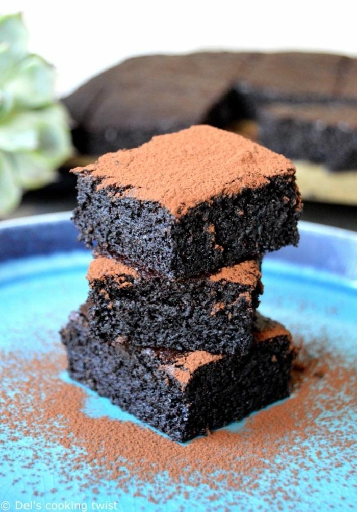 schokokuchen ohne zucker kuchen mit schokolade saftiger schokokuchen dessert mit kakao brunch ideen