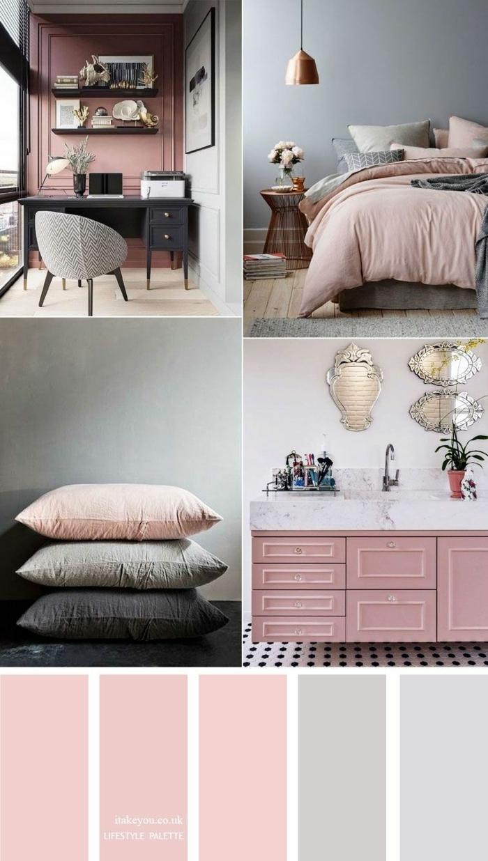 wandfarbe mauve beispiele und kombinationen wohnung einrichtung schlafzimmergestaltung home office