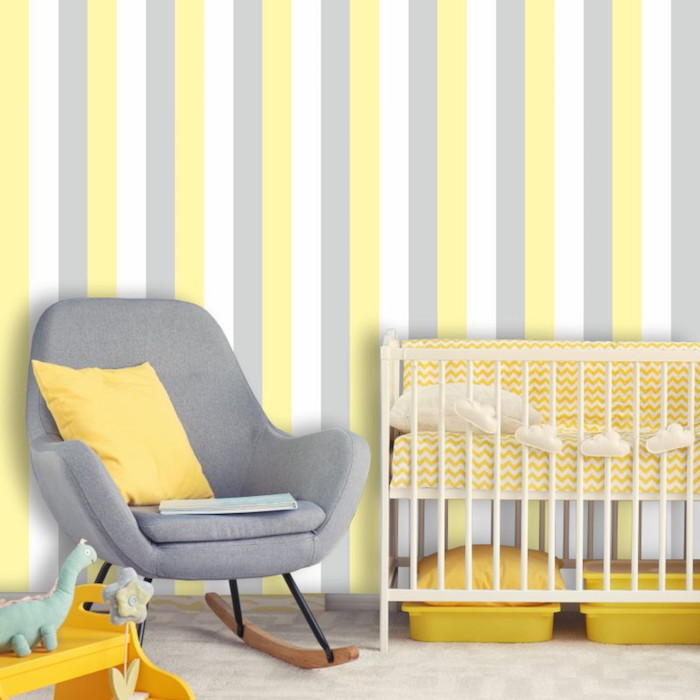 wandfarben kombinieren schöner wohnen wandfarbe streifen in gelb und weiß dofa hellgrau