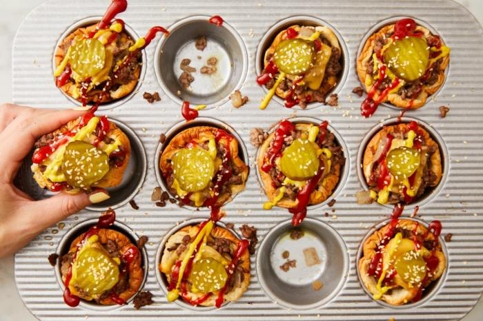 was soll ich kochen abednessen für kinder muffins mit käse gemüse uns hackfleisch kochen und genießen