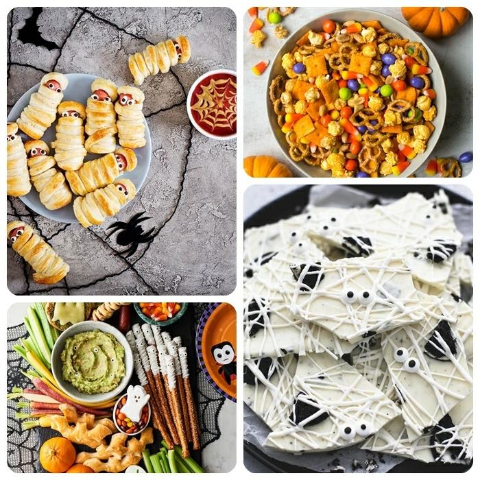 0 halloween rezepte fingerfood kinderparty ideen snacks aus weißer schokolade würstchen mumien partyessen