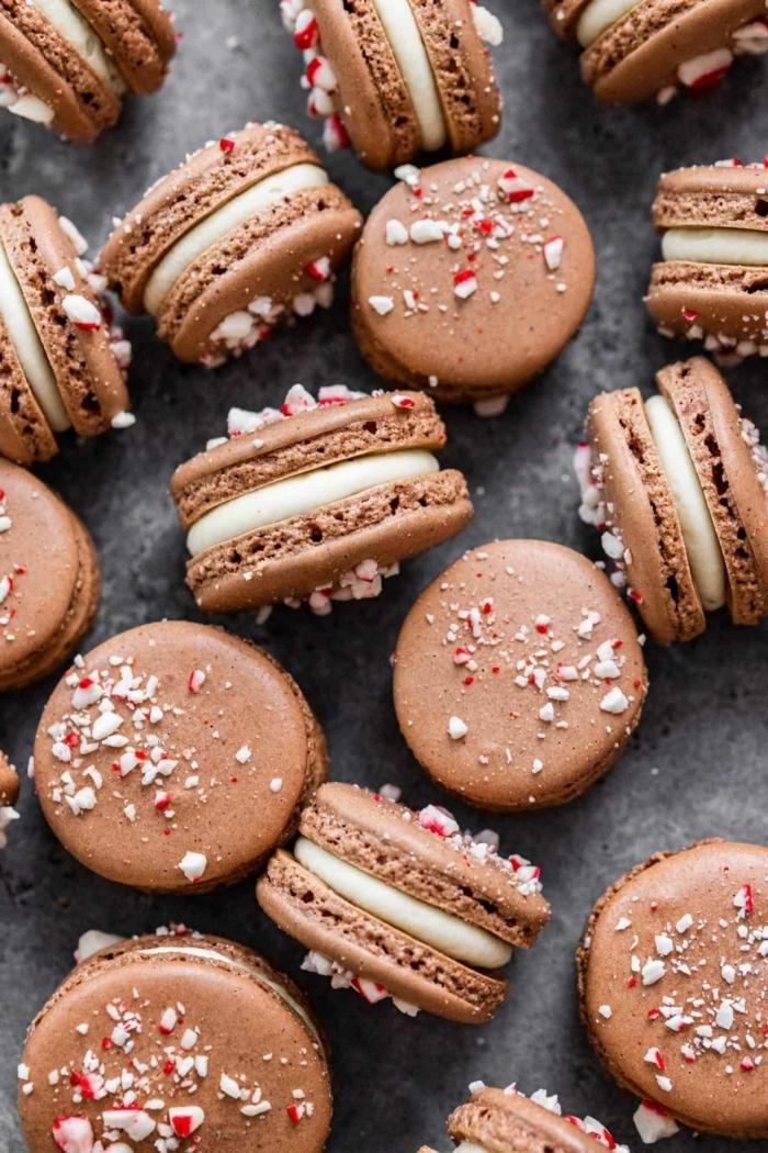 0 macarons selber machen rezept mit schokolade und pfefferminzbonbonen backrezepte ideen weiße creme