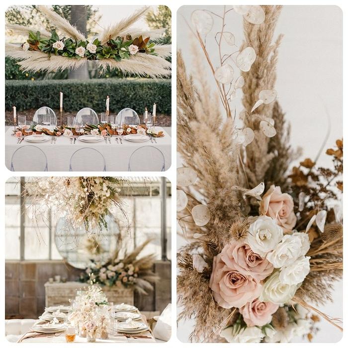 0 pampasgras deko hochzeit festliche tischdeko dekoration mit blumen hebrtsthochzeit dekoideen fotos beispiele