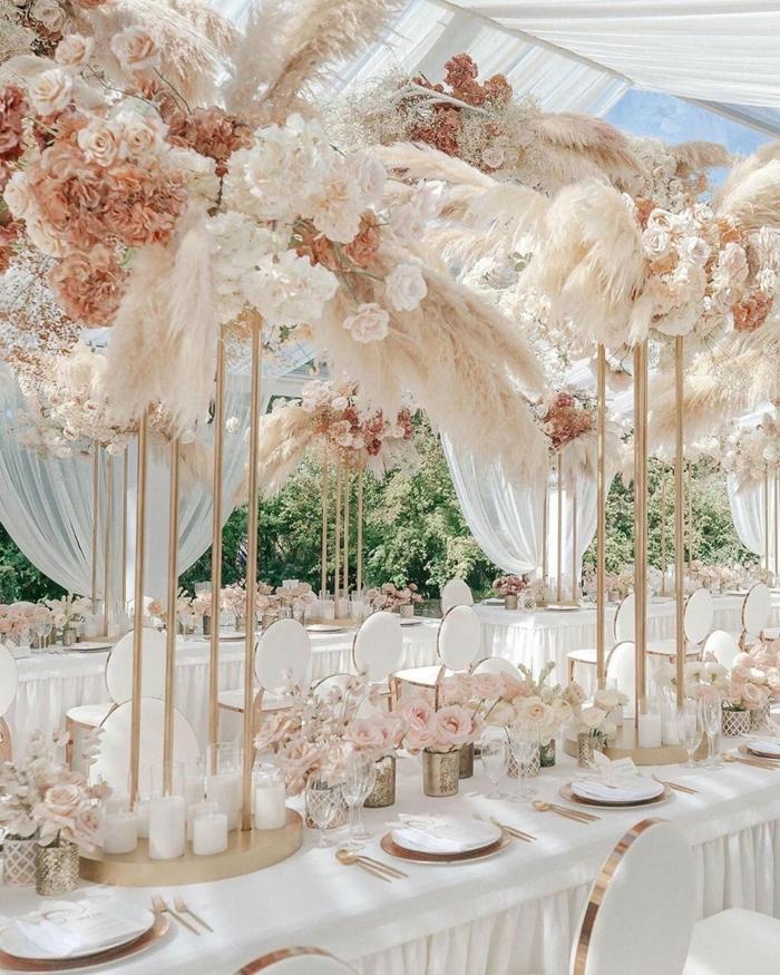 0 pampasgras deko hochzeit getrocknete blumen dekoration in pastallfarben herbstdeko hochzeitsdeko ideen