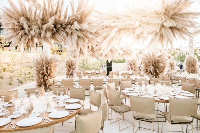 0 pampasgras deko hochzeit hochzeitsdeko in beige herbsthochzeit dekoraition hochzeitsdekoration