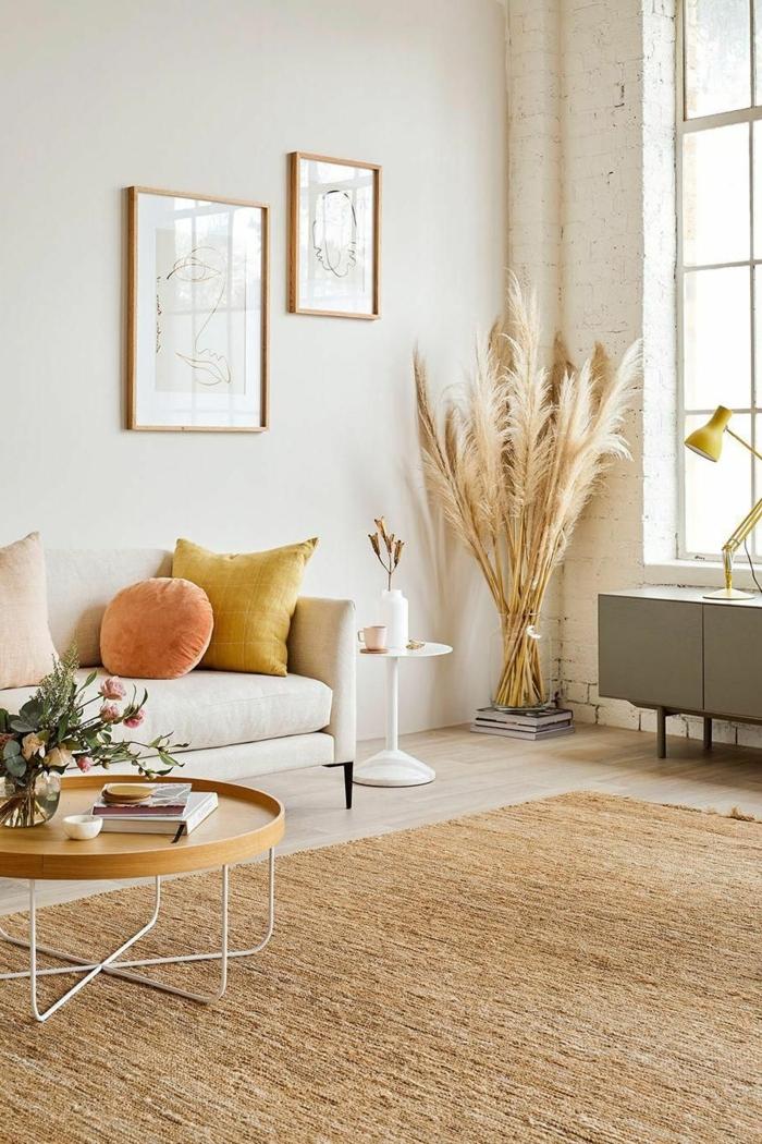 0 pampasgras deko wohnzimmer dekroieren skandinavisch wohnen deko in herbsttönen zimmerdeko beispiele