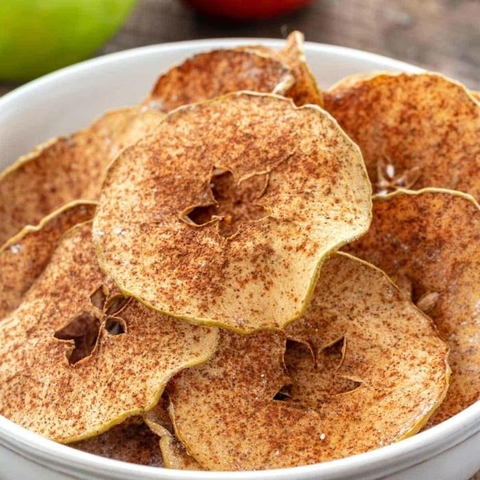 1 chips selber machen fingefood rezepte gesund apfelchips mit braunem zucker und zimt schritt für schritt zubereitung