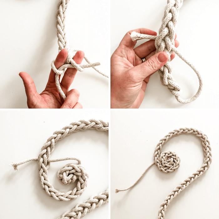 3 kreative bastelideen diy skandinavische deko selber machen anleitung schritt für schritt untersetzer aus seil