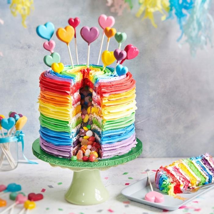 5 geburtstagstorte für 13 jähriges mädchen pinata torte selber machen geburtstagskuchn mit überraschung regenbogenkuchen