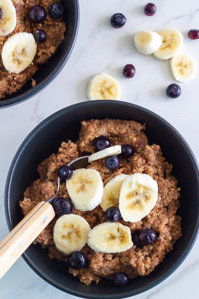 chocolate banana quinoa breakfast bowl 4 1