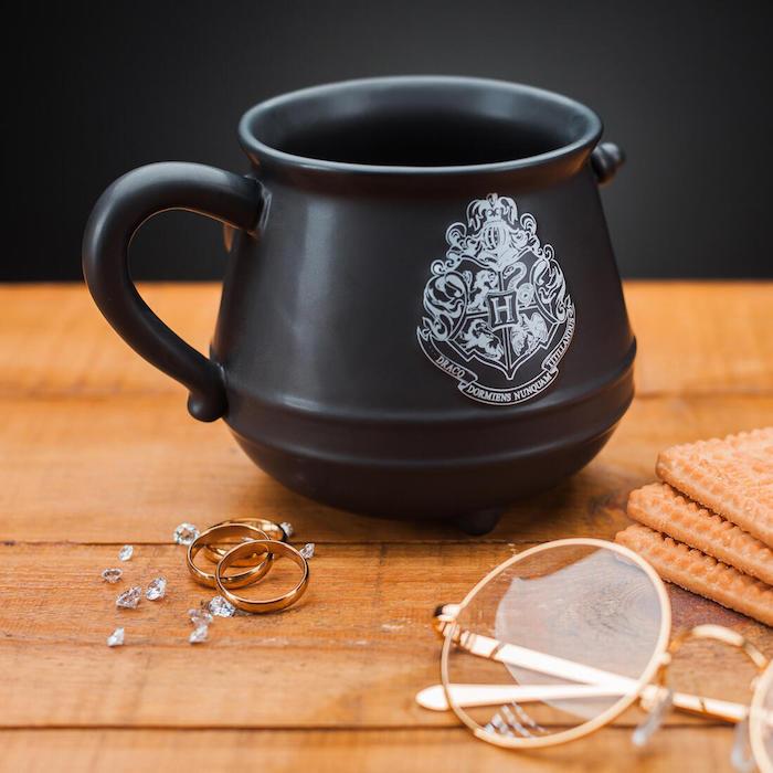 brille und zwei goldene ringe geschenk für beste freundin eune kleine schwarze harry potter tasse