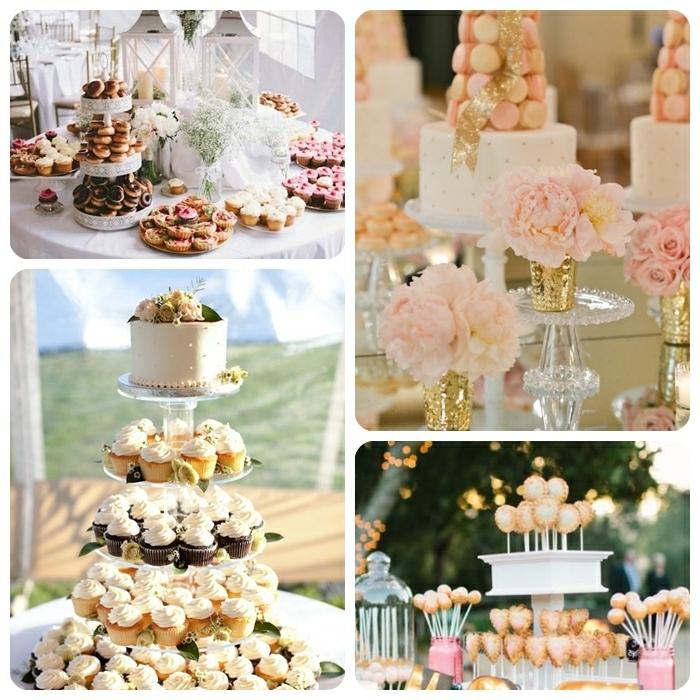 candy bar vintage candybar ideen und beispiele hochzeitdeko tisch torte und viele muffins macarons leckereien