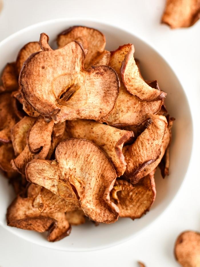 chips selber machen backofen apfelchips im ofen backen shcnelle backrezepte gesundes partyessen für kinder