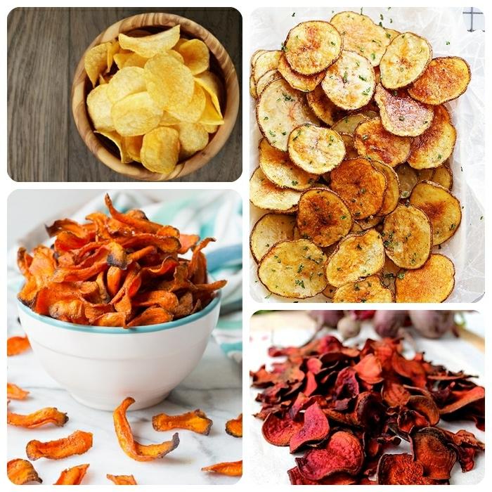 chips selber machen backofen kartoffelchips mit salz und kräutern fingerfood partyfood