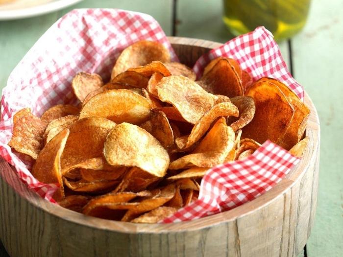 chips selber machen backofen paryt rezepte partyfood ideen selsbtgemachte kartoffelchips im ofen