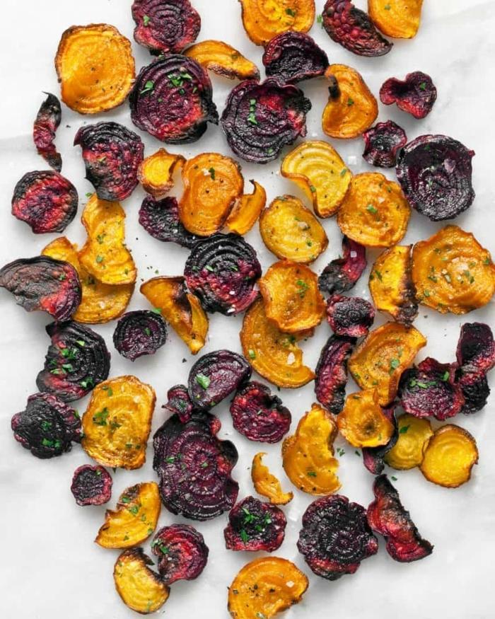 chips selbst machen ofen gesunde und einfache rezepte chips aus kartoffeln und roter beete